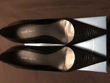 Black Croc Patterned Nine West Size 11 Pumps Brand New!!!