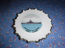 Souvenir Plate Battleship USS Alabama Mobile, Alabama  5 Inches Wide