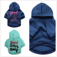 Good Vibes Only dog hoodie sweaters Blue size xs small medium large ombre pet