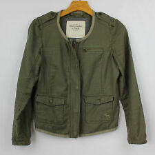 Abercrombie & Fitch Women's Military Green Jacket Size Small