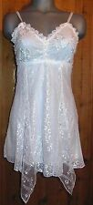 NWT PRETTY ANGEL cami intimate sexy TANK TOP TUNIC SHIRT dress WHITE MED LACE