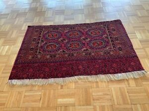 "Antique 19th Ca Turkmen Turkoman Chuval Yomut Take 36""x52"" Tribal Rug"