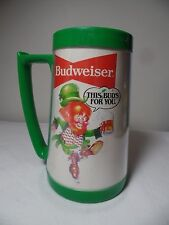 Vintage Budweiser Plastic Beer Mug Steins  Leprechaun This Buds For You