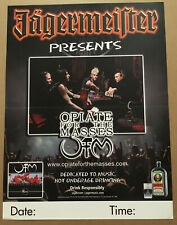 Opiate For The Masses Rare 2005 Promo Tour Poster for Spore Cd Never Displayed
