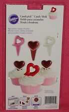Heart Chocolate Candy Pick Mold,Wilton,2115-1425,Clear Plastic,Cupcake Topper