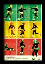 BOB MARLEY SOCCER 13x19 FRAMED GELCOAT POSTER REGGAE JAMAICA FOOTBALL MUSIC ICON