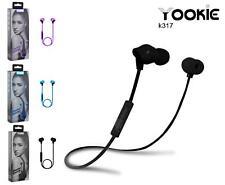 Yookie Wireless Bluetooth Headphones Sports Running Earphones For Samsung iPhone