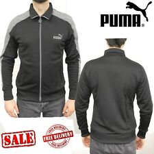 PUMA Mens LS Eagle Point 2 Team Sports Jackets Sweatshirts Jumpers Tops Black M