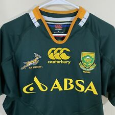 South Africa Size Medium Canterbury CCC Green SA Rugby ABSA Embroidered Jersey