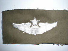 Usaf Senior Pilot Wings -Color On Od Green Twill