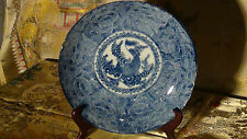 """ANTIQUE  EARLY19C CHINESE BLUE AND WHITE PORCELAIN LARGE """"FISH"""" CHARGER,BOWL"""