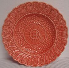 Bordallo Pinheiro BASKETWEAVE RED Salad Plate BEST! More Items Available