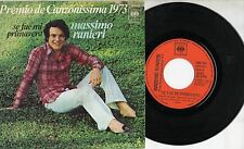 MASSIMO RANIERI canta in SPAGNOLO disco 45 giri SPAIN Fue mi primavera