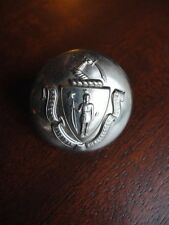 Waterbury Button Company Conn Coat of Arms Brass Button 1-1/8w Vintage