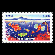 France 2016 - Fish of the Mediterranean Fauna Marine - Sc 5065 MNH