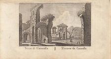 Terme de Caracalla Roma Italia Orig Kupferstich Vasi 1816