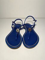Tory Burch Emmy bright Nautical Blue flat Calf leather sandal