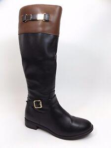 Valerie Setevens Haldon Faux Leather Riding Boots, Women's SZ 7.5 M,    D9250