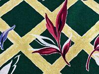 SALE! Tropical Trellis Barkcloth Vintage Fabric Drape Curtain Miami Beach Style