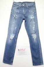 Levi's 511 customized (Cod.E1187) tg45 W31 L34 jeans donna usato vintage