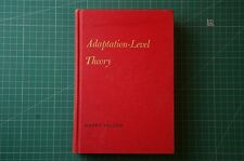 Adaptation-Level Theory - Harry Helson: 1st Ed 1964 HB Good+ RARE