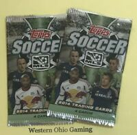 2014 Topps MLS Soccer Pack x 2 NEW 4 Cards Per Pack Football