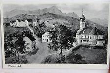 27008 AK Maria Eck Kirche und Häuser Siegsdorf Bayern 30er Jahre