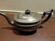 Superb Antique pewter teapot ca. mid 19th C, some minor damage [Y8-W7-A9]
