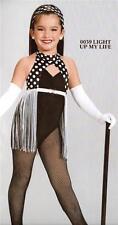 Jazz Dance Costume Artstone black white leotard Tap Skate Light up my life