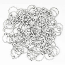 """Hoop Captive bead ring cbr 16g 7/16"""" 11mm 316L Surgical Steel 100pc"""