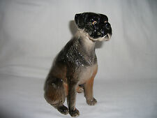 Vintage pottery Model of a Boxer Dog Ref 612