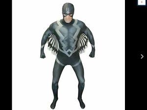 Marvel Black Bolt Morphsuit Fancy Dress Superhero Funny Adult Men's Large