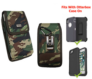 Cellphone Camouflage Clip Holster Pouch Rugged Canvas Cover For Otterbox Case on