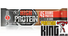 MUSASHI P45 HIGH PROTEIN LOW CARB BARS 12x 90G DARK CHOC SALTED CARAMEL QUEST