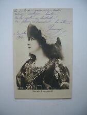RPPC Postcard Sarah Bernhardt 1906