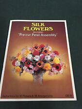 70's Vintage Silk Flowers Instruction Pattern Craft Booklet Pre-Cut Petal Assem.