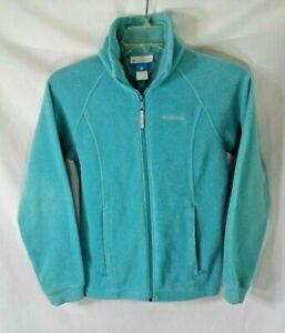 Columbia Junior Womens Size 14-16 Jacket Full Zip Fleece Teal Blue coat
