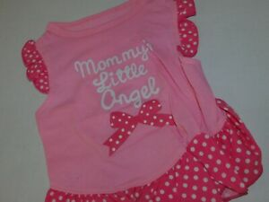 Puppy Dog Clothes Girl Dress Pink Small Medium Large Mommys Little Angel