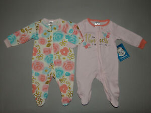 NWT, Baby girl clothes, Newborn, Gerber 2 sleep & plays