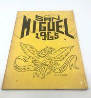 1965 SAN MIGUEL MEMORIAL JUNIOR HIGH SCHOOL YEARBOOK AFRICAN AMERICAN SCHOOL