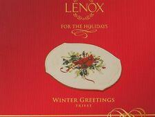 "Lenox Winter Greetings Trivet Christmas Holiday Cardinal & Holly 8-5/8"" x 6-3/4"""