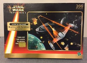 Collectable Star Wars Episode 1 Jigsaw Battle of Naboo Puzzle Glow-in-the-Dark