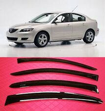 Mazda-3 Sedan 04-08 SMOKE TINT WINDOW VISOR SHADE/VENT WIND/RAIN DEFLECTOR 4pc