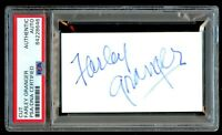 Farley Granger (d2011) signed autograph 2x3.5 cut Actor Strangers on a Train PSA