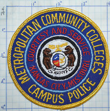 MISSOURI, KANSAS CITY METRO COMMUNITY COLLEGES CAMPUS POLICE PATCH