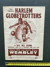 More details for harlem globetrotters official 1953 programme -wembley empire pool & sports arena