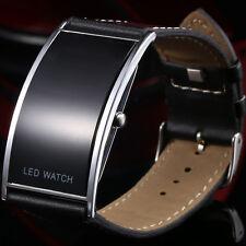 LED Digital Armband Uhr in Schwarz Edle Agenten Armbanduhr Herren Damen Geschenk