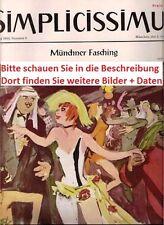 1954 1955 1956 57-66 Simplicissimus Geburtstagszeitung  63. 62. 61. Geburtstag