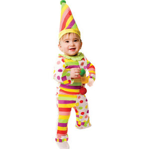 Sweet Dots N' Stripes Infant Clown Costume By Dress up America
