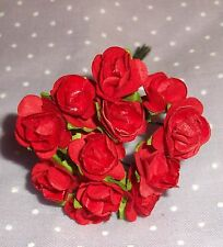VINTAGE Parchment TINY roses cluster DOLL CLOTHES Alexander & Ginny RED red